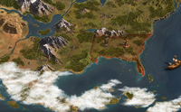 6 Forge Of Empires - Screenshot: Mapa